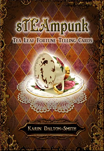 (STEAMPUNK TEA LEAF FORTUNE TELLING CARDS (45 bronze gilt-edged cards w/guidebook, boxed))