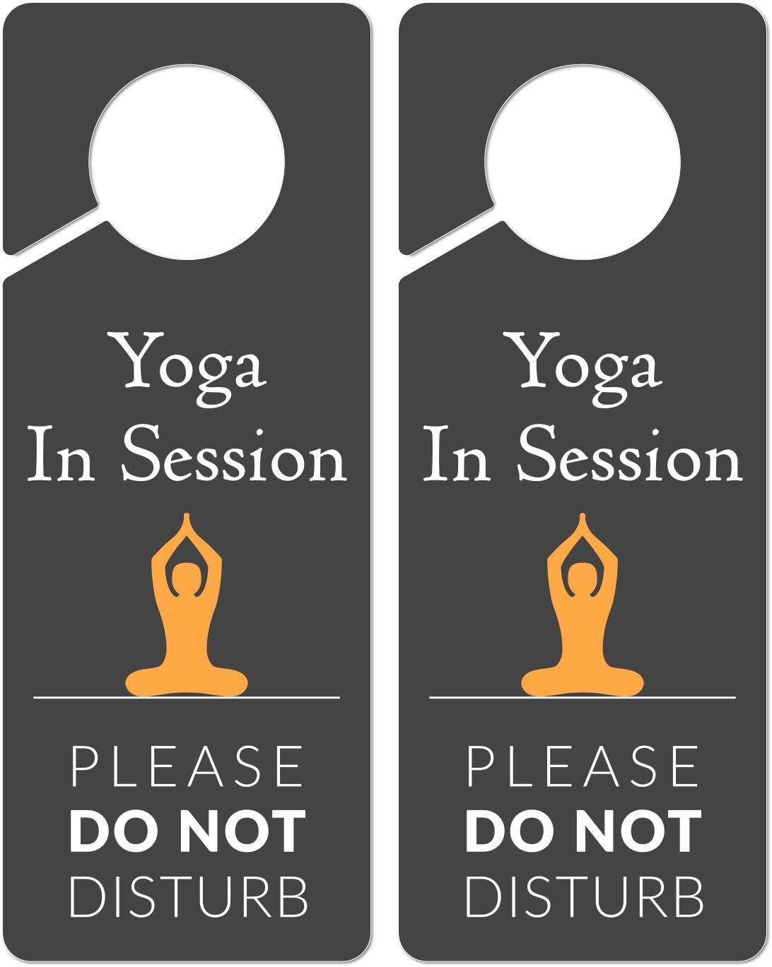 4 Pack Do Not dDisturb Door Hanger Sign Door Knob Hanger Sign Yoga in Session for Hotel Room Home Decoration PVC Plastic 9.25x3.5 Inches Double-Sided