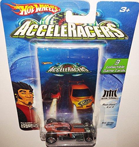 Hot Wheels AcceleRacers Metal Maniacs #8 of 9 Rat-ified (5 Spoke Version) (Cars Wheels Teku Hot Acceleracers)