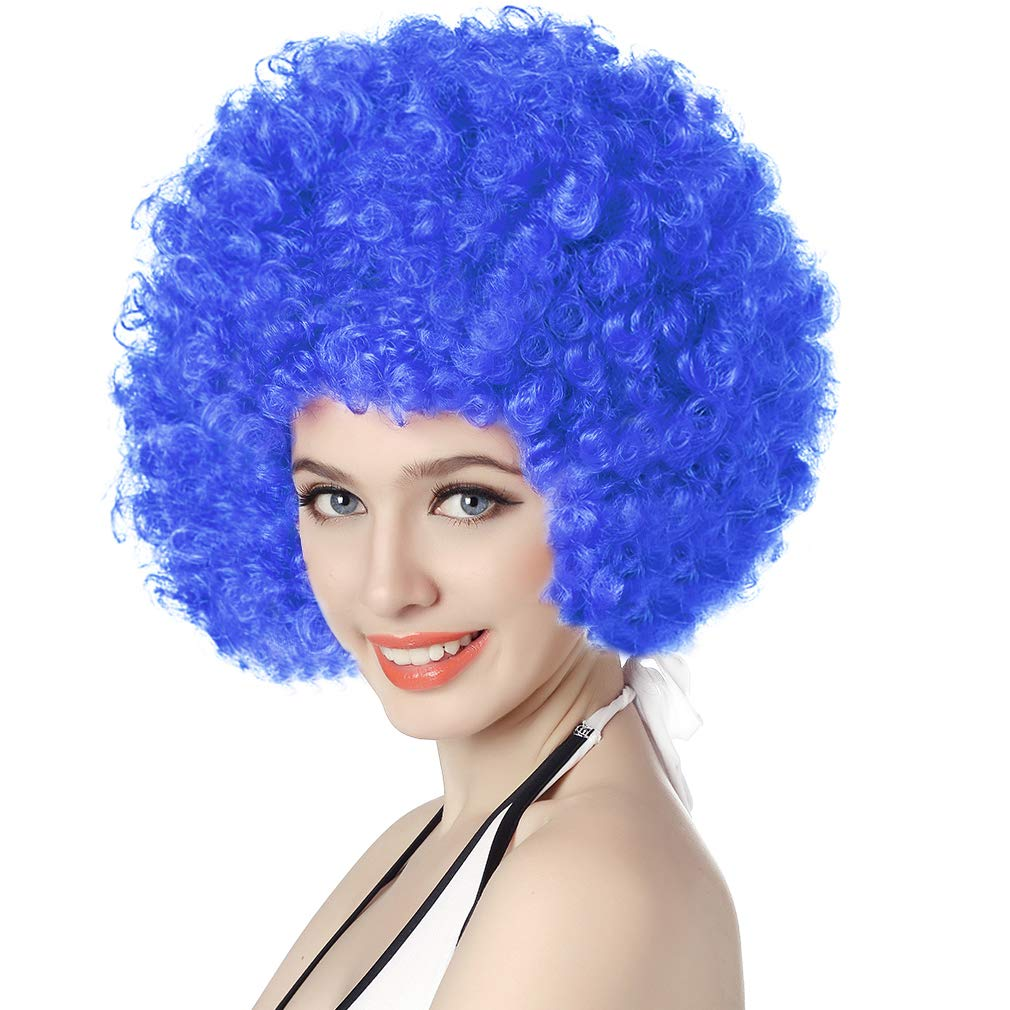 AFRO WIG FANCY DRESS PARTY CURLY CLOWN FUNKY DISCO MEN//LADIES 70S HAIR COSTUME