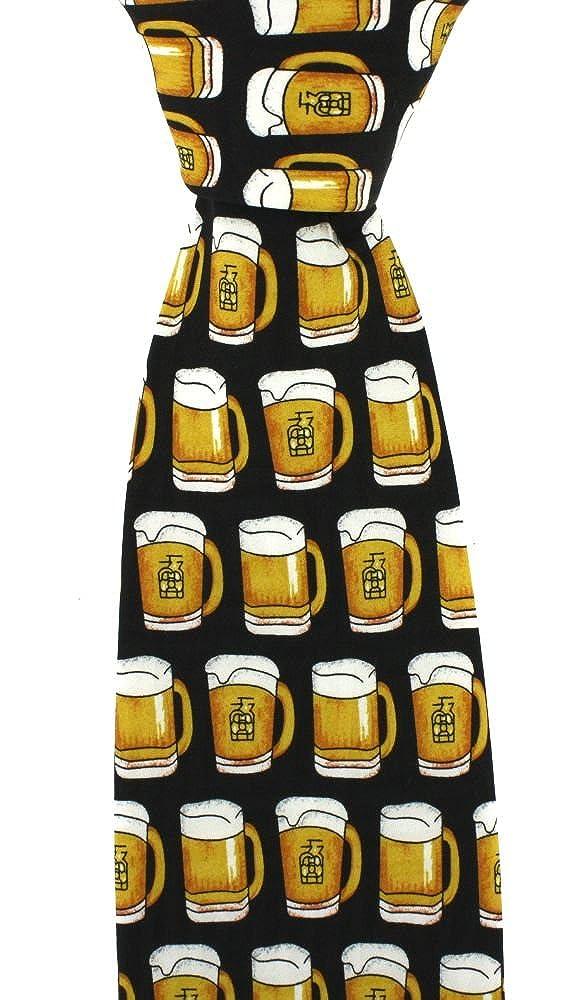 Soprano Homme Cravate en soie fantaisie Verre à bière boire Publicain Cadeau