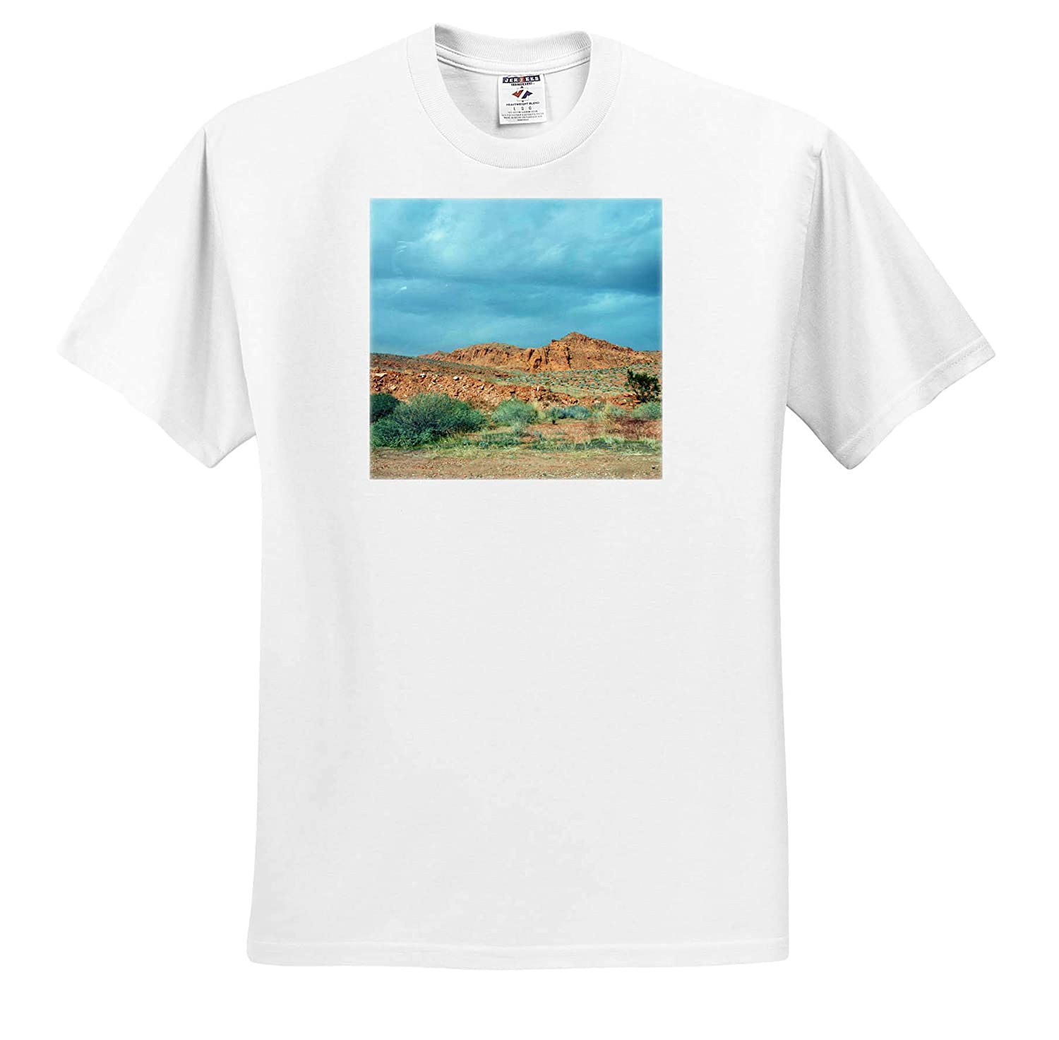 Southern Utah T-Shirts A beautfiul Landscape in Southern Utah with Cloudy Skies 3dRose Jos Fauxtographee