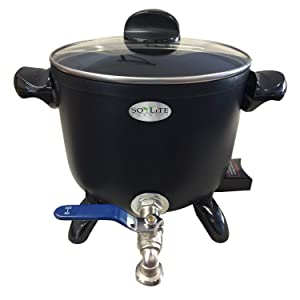 Wax Melter for Soy, Paraffin and Bee's Wax Candle Making Easy Pour Valve
