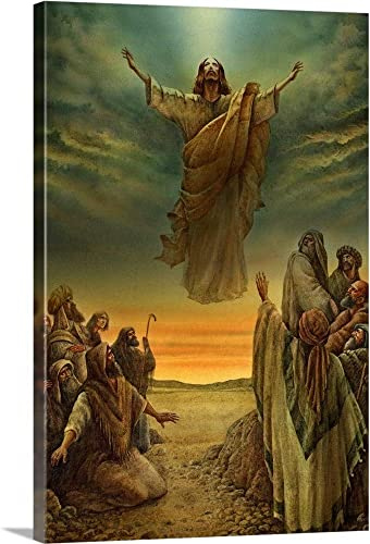 Jesus Ascending into Heaven Canvas Wall Art Print