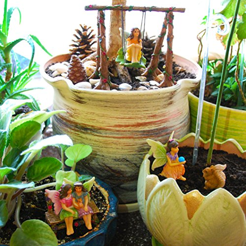 Fairy garden accessories kit with miniature figurines - Garden decor accessories ...