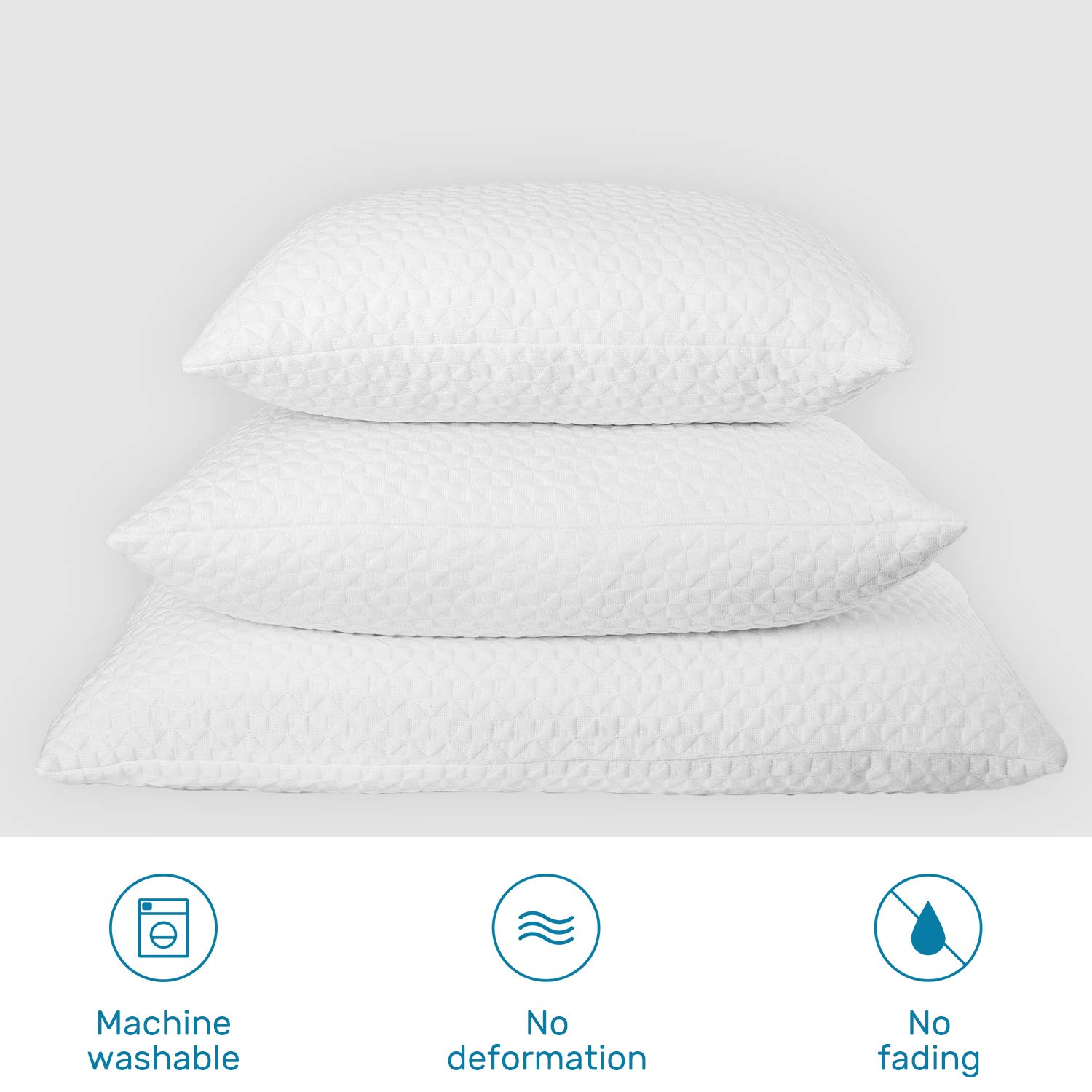 Avenco Pillow Protectors Cases Allergy Control, Hypoallergenic Dust Mite & Bed Bug Zippered Covers (2 Pack) Standard White