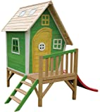 EXIT Fantasia 300 - casas de juguete (Playhouse on poles, Niño/niña, Verde, Rosa, Color blanco, Madera, Madera, EN-71, 570 x 1930 x 140 mm)