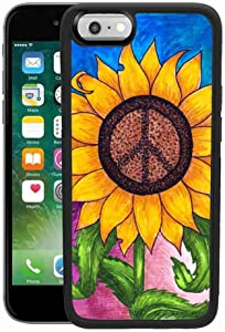 Sunflower Peace Sign Cell Phone Case Fits for iPhone 6 Plus/6s Plus 5.5in