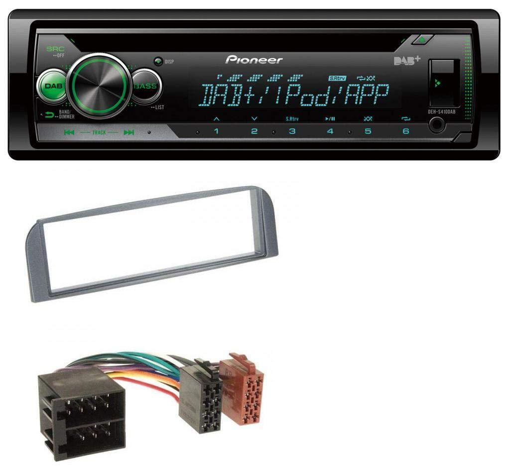 caraudio24 Pioneer DEH-S410DAB USB MP3 DAB AUX CD Autoradio fü r Alfa Romeo 147 GT anthrazit