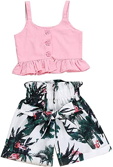 Outfits for Toddler Girls Clothes Sets Off Vest Denim Shorts Toddler Girls Rompers and Jumpsuits