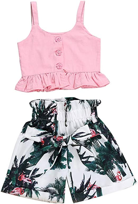 Cuekondy Baby Girls Toddler Kids One Piece Romper Jumpsuit Outfit Clothes Summer Watermelon Print Lace Strap Playsuit