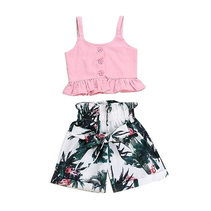 Amazon.com: 1-4 años de edad bebé niña niña 2019 verano ropa ...