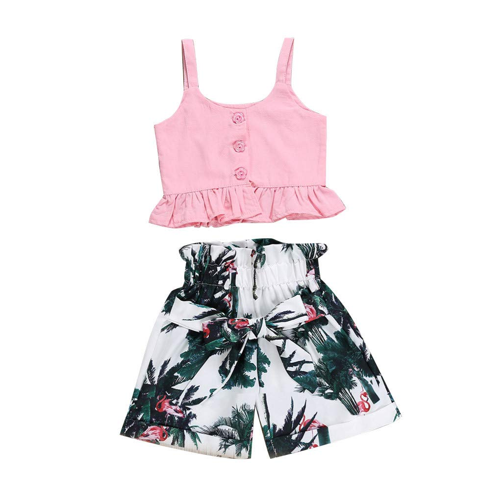 546f8e44a1136 Amazon.com: 1-4 Years Old Toddler Baby Girl Kids 2019 Summer Casual ...