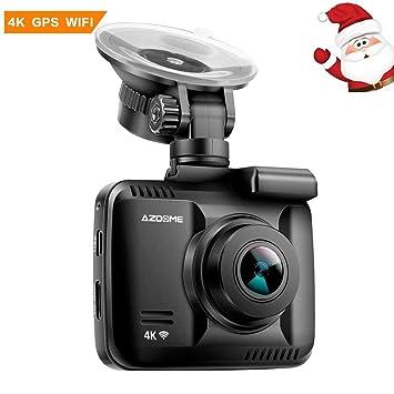 Cámara de Coche 4K 2160P con WiFi GPS,Dashcam Grabadora Ultra HD de Ángulo Amplio