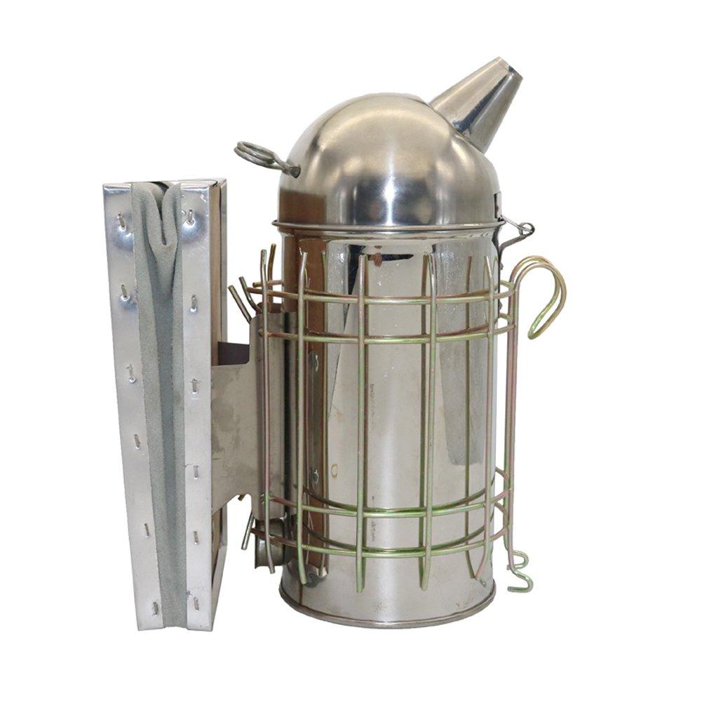 ADHERETOFLY Bee Hive Smoker Stainless Steel Beekeeping Tool