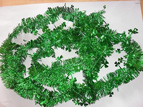 (8 Ft. St. Patrick's Day Shamrock String Decorations (2 Strings))