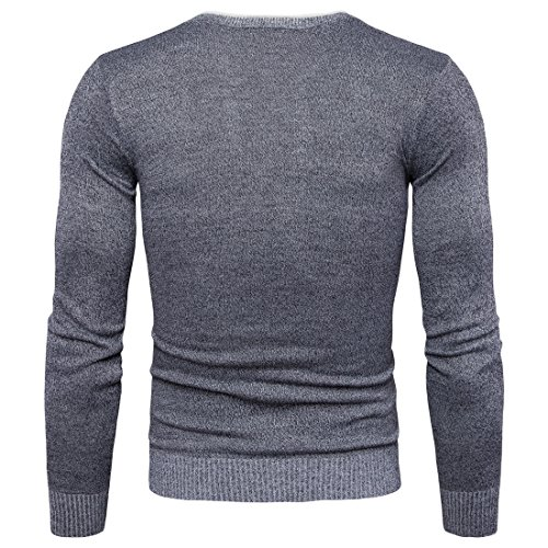 Cuello Hombre Redondo De Slim Fit Top over Suéter Punto Marengo Laozana Pull dgq0n1U0R