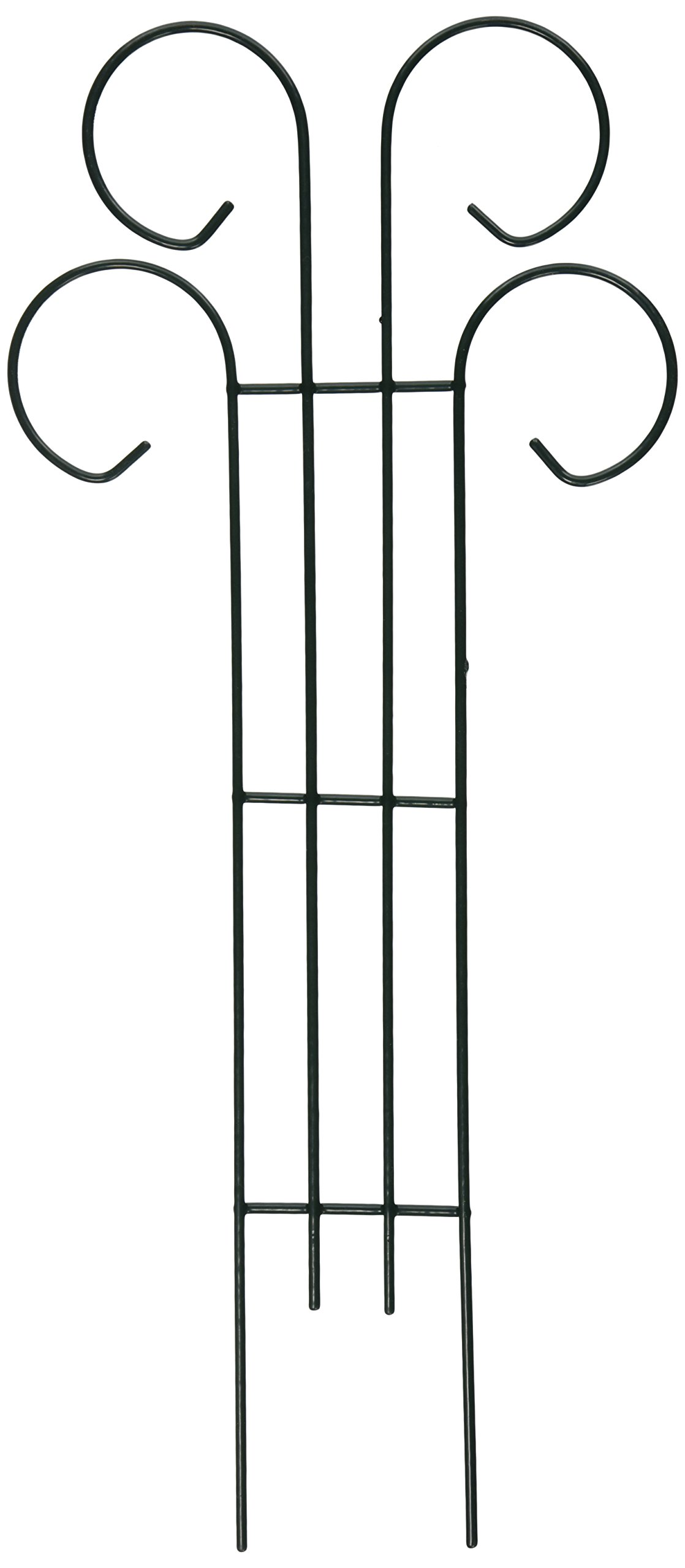 Bosmere L510 Metal Scroll Design Trellis, Green, 18-Inch