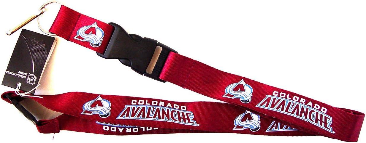 NHL Colorado Avalanche Sports Collegiate Team Logo Clip Lanyard Keychain Id Ticket - Red