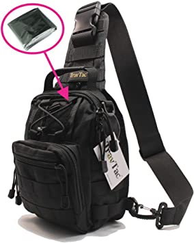 travtac Fase I Premium Pequeño EDC Tactical Sling Pack 900d – Incluye Manta de emergencia: Amazon.es: Deportes y aire libre