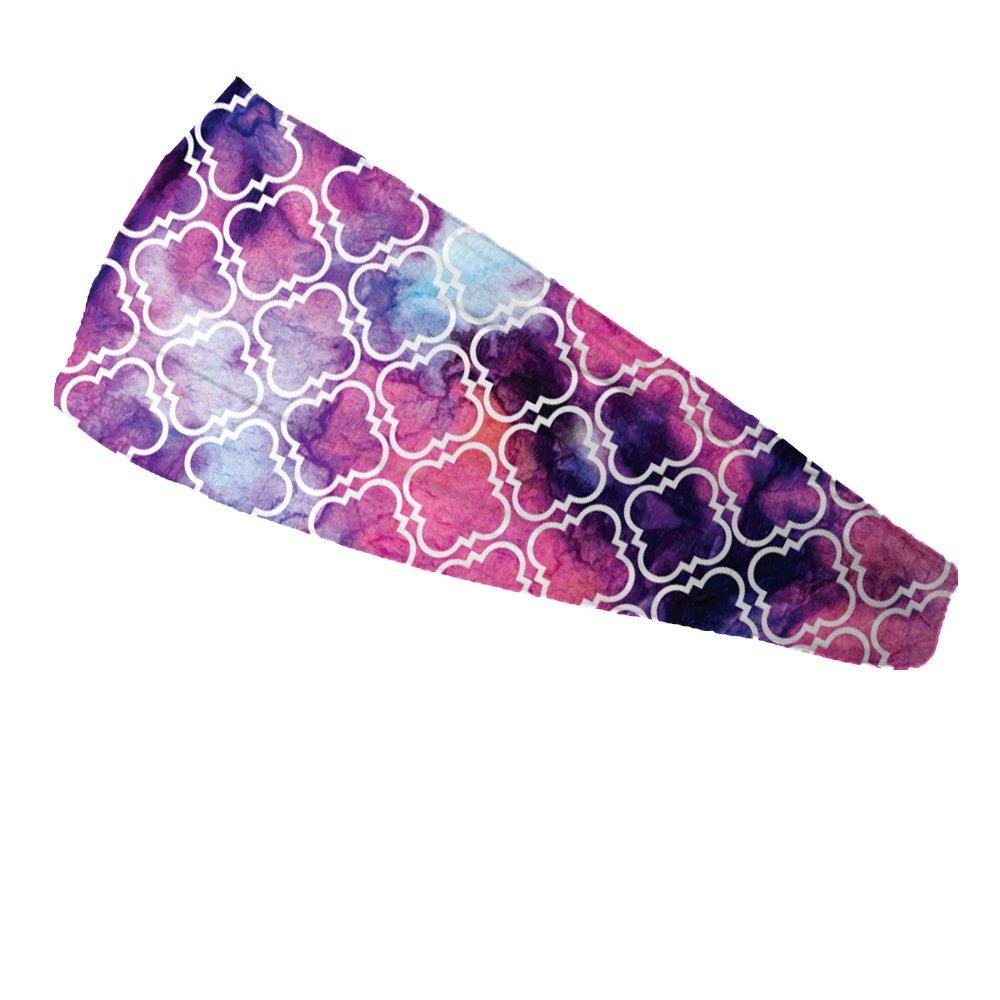 Bondi Band Honeycombe Purple Moisture Wicking Headband , 4″