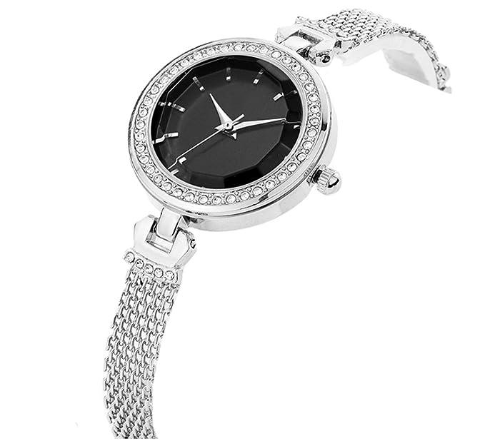 Reloj para mujer Nueva tendencia de moda Diamante pequeño dial Tejer pulsera impermeable reloj de mujer: Amazon.es: Relojes