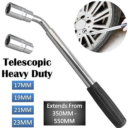 17 19 mm Extendable Wheel Telescopic Car Van Brace Socket Tyre Nut Wrench