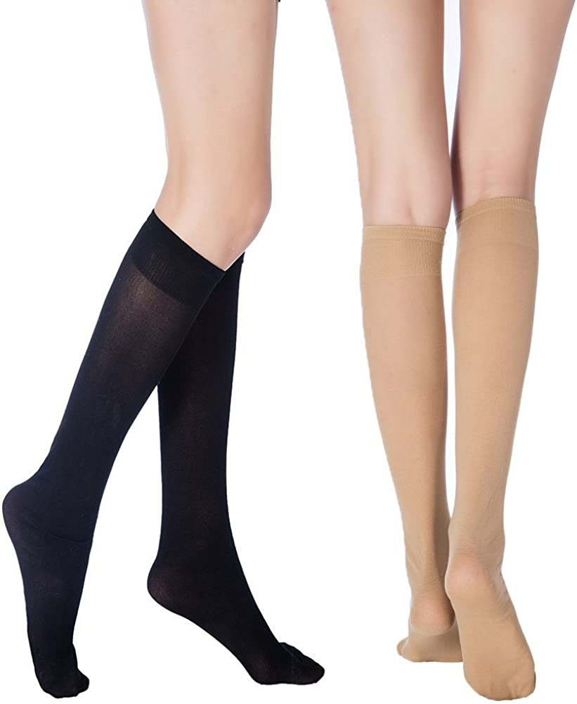 6 Pack Women/'s hosiery 40 Denier Stretchy Sheer Ankle Socks Hosiery Lot