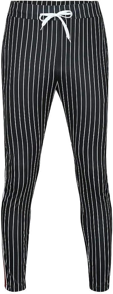 Reasoncool Hosen Herren Slim Fit Sweathosen Chino Stretch Cargo Jogginghose Bermuda Joggers Striped Splei/ßen Casual Kordelzug Trousers Lange Trousers Regular Fit Freitzeithose