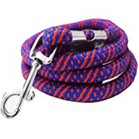 LOKO Large Size Dogs Heavy Rope Leash with Hook (12 mm, Colour May Vary)
