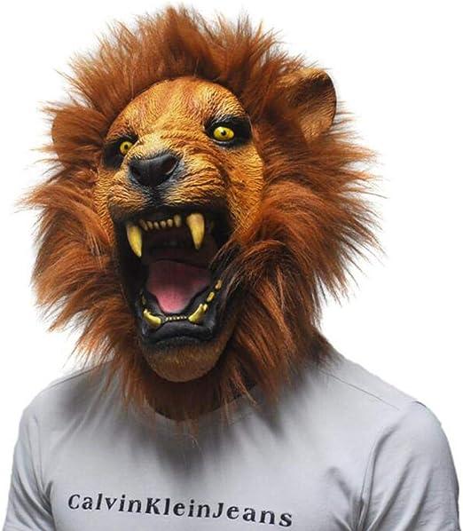 AOLVO Máscara de Cabeza de león Divertida para Disfraz de ...