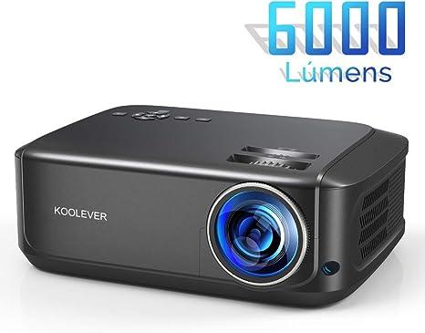 Proyector Cine en Casa,1080P LCD Video Proyector Full HD con 6000 ...