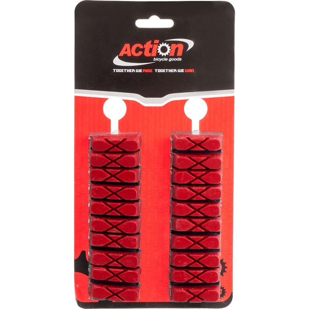 Action X-Cut - Tarjeta roja de 10 Pares de Zapatos de Freno ...