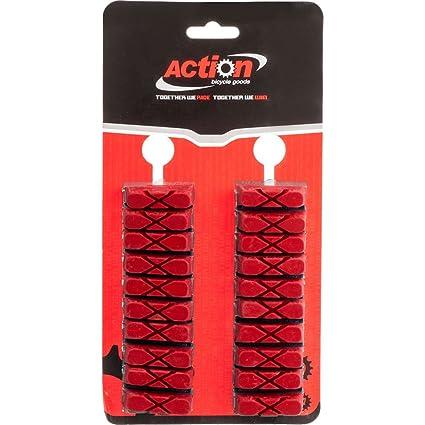 Amazon.com: Acción X-Cut tarjeta roja de 10 par de zapatas ...