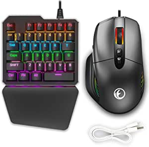 IFYOO KMAX1 Pro Wired Gaming Keyboard and Mouse Set Adapter Converter for Xbox One / PS4 / Switch / PS3 / PC(Windows/Linux) - [Included USB Sync Cable for Controller]