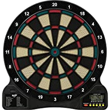 Fat Cat 727 Electronic Dartboard, Easy To Use Button Interface, Automatic Voice Feedback, Lock Segment Holes For Less Bounce Outs, Included Darts And Built In Storage, Mulitplayer For Up To 8 Players, 43 Games 201 Options