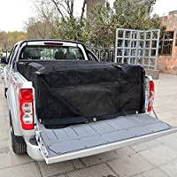 Vans Boats /& More Heavy Duty Bungee Webbing for Pickup Trucks Truck Bed Cargo Net Organizer 4.75x 6 Adjustable /& Rip Proof Mesh with Grommet Anchoring Points /& Tarp Trailers