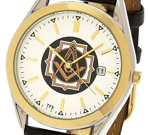 Men's Two Tone TFX by Bulova Masonic Blue Lodge Watch (Bulova 17 Jewel)