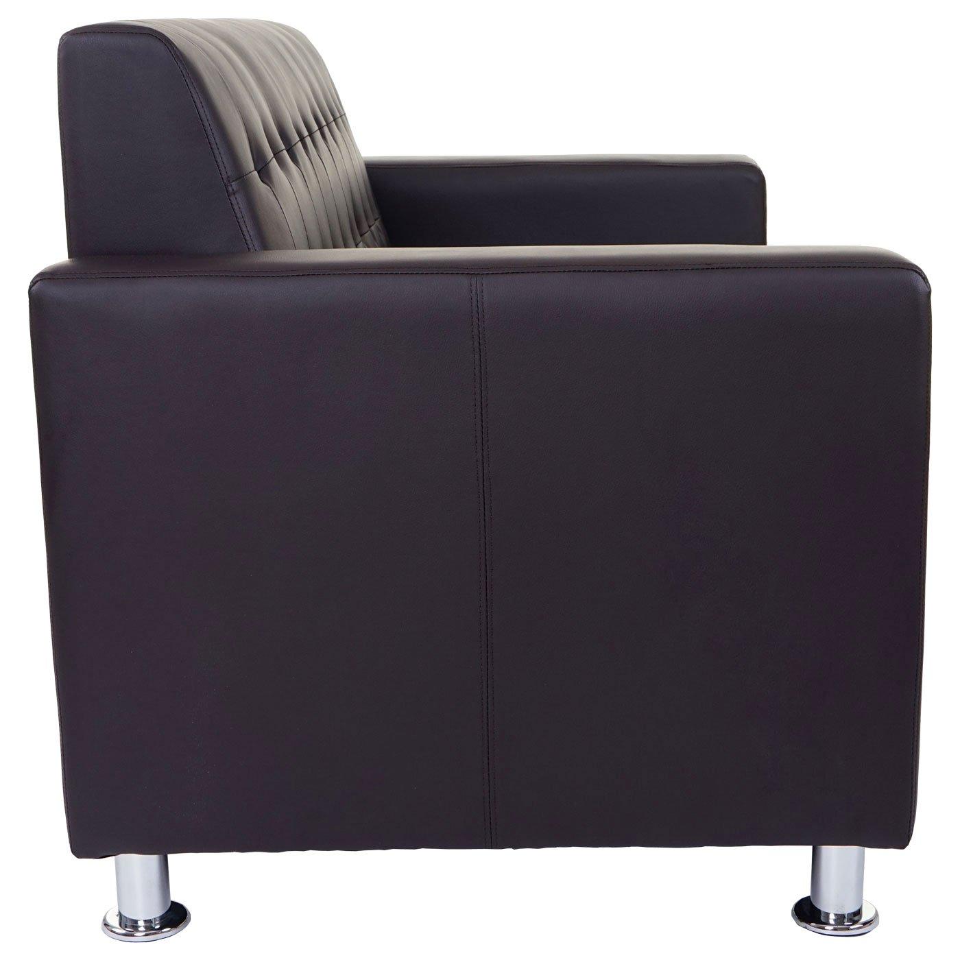Sofá de 2 plazas de salón Kunda diseño Moderno sintética 75 ...