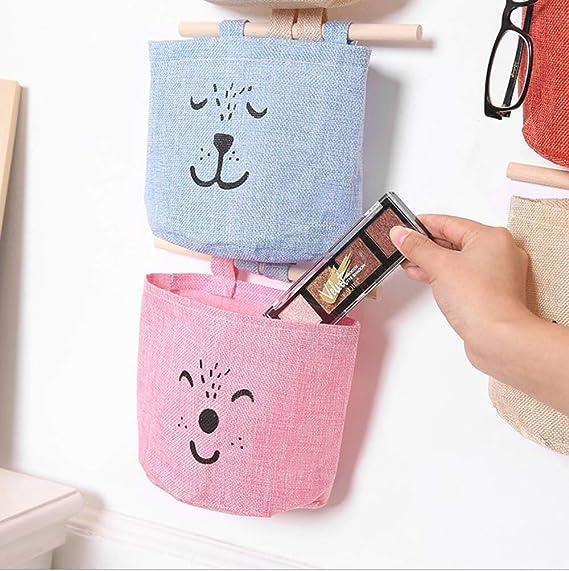 bolsa de almacenamiento Dise/ño de flamencos sistema de ordenaci/ón para colgar bolsos para habitaci/ón de los ni/ños sal/ón 3er Set Bunt
