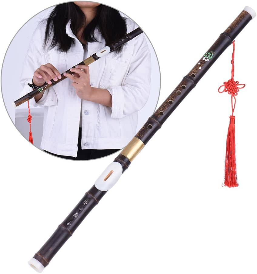 D DOLITY Professional Traditional Woodwind Flute Instrument Double Pipe Bamboo BaWu Key C G China Transverse Flute Ba Wu Copper Reed Musical Flute