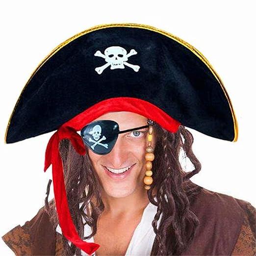69b77ff4a Amazon.com: D-Fokes Pirate Hat Party Captain Costume Cap Halloween ...