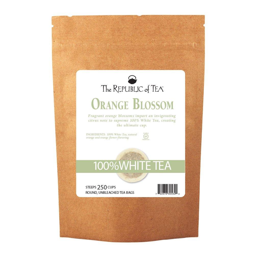 The Republic of Tea Orange Blossom White Tea, 250 Tea Bags, Authentic 100% White Tea, Fresh Citrus Blend