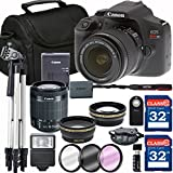 Canon EOS Rebel T6 + 18-55mm IS II Lens + SD Card Reader + 64GB Memory + Remote + Accessory Bundle - International Version