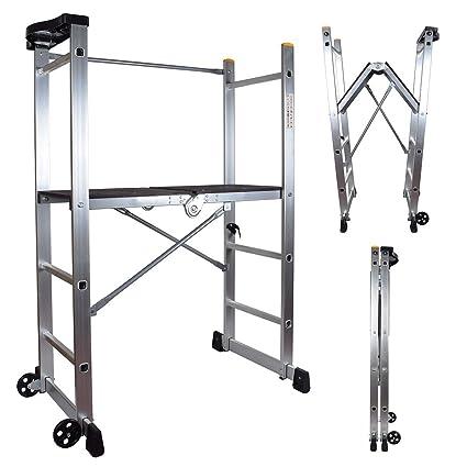 14f7323f187 Abbey Folding Scaffold Platform Ladder 1m Platform height EN 131   Amazon.co.uk  DIY   Tools