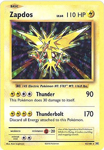amazon com pokemon zapdos 42 108 xy evolutions holo toys