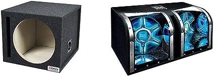 NEW Dual Electronics BP1204 12 inch illumiNITE Studio Enclosed Car Subwoofers