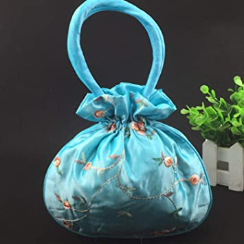 jewh embroidery fruit christmas gift bags large handle coin purse women wedding favor bags