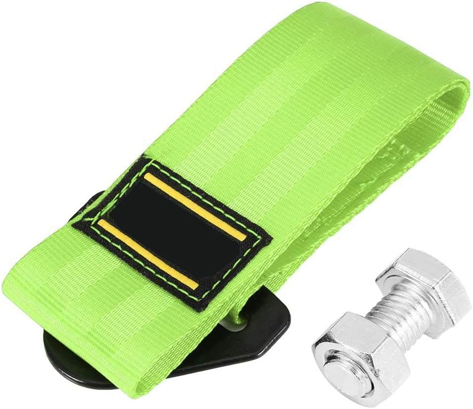 10.8in Front Rear Bumper Hook Racing Tow Strap Recovery Tow Strap with Hooks Green KIMISS 2 Tons High Strength Car Trailer Towing Rope