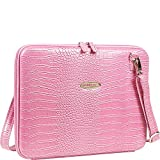 Mobile Edge Faux Croc Portfolio- 14.1-Inch PC/15-Inch MacBook Pro (Pink)